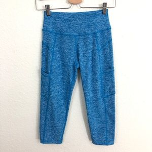 Beyond Yoga Space Dyed Cropped Leggings Blue